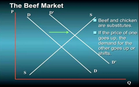 the supply and demand relationship of beef