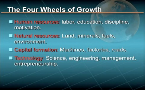 The four wheels of economic growth