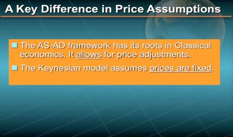 Key difference in price assumptions
