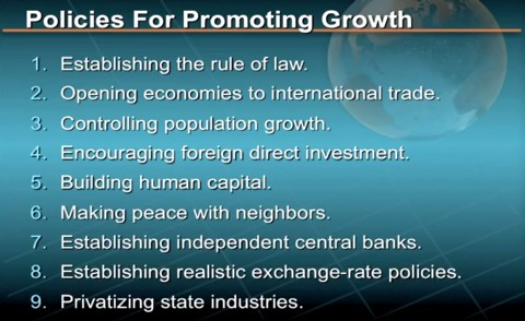 Policies for economic growth