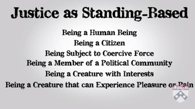 justice as standing based