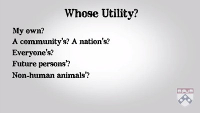 whose utility is taken into account