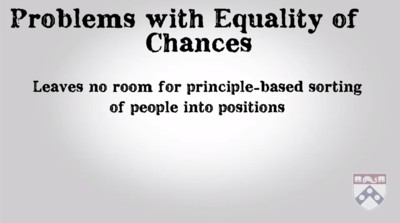 problems with equality of chances