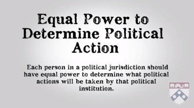 equal power to determine political action