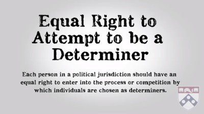 equal right to attempt to be a determiner
