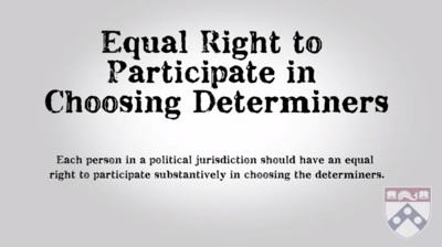 equal right to participate in choosing determiners